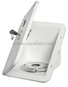 LOCKING deck fuel water filler outside cupboard compartment boat caravan  COMPF