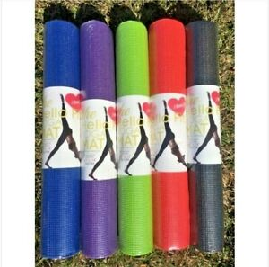 "Meditation Yoga Mats 68"" x 24"" x 4mm Non-Slip"