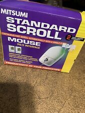 Mitsumi Standard Scroll Mouse PS/2 Interface ~ Vintage New