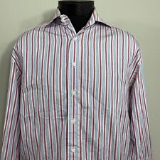 Canali Dress Shirt Button Up Long Sleeve Cotton 40 15.5 Made Italy Casual Collar