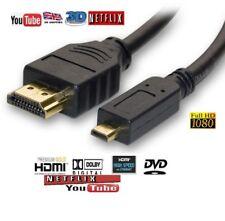 Micro HDMI Male to HDMI male Cable Lead HDTV 1080p Digital Camera Camcorder-BABZ