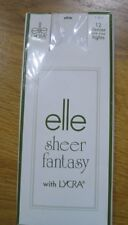 New  - Elle Sheer Fantasy With Lycra Tights - White - 12 Denier - One Size