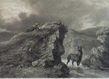 Un Guet-à-Pens Chasse Cerf  GRAVURE Journal des Chasseurs Septembre 1854