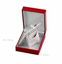 QUALITY CLASSIC LEATHERETTE PENDANT BOX RED BOX EARRING BOX JEWELRY GIFT BOX