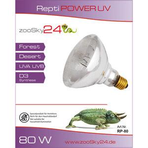 Repti Power UV 80W 100 160 Watt, UVB UVA für Terrarium, E27 UV Terrarienlampe