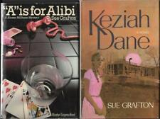 2 GRAFTON SIGNED TRUE 1st EDITIONS, A is for Alibi & Keziah Dane w/signed letter