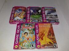 5 Sega Game Gear Games Lion King, Jungle Book,Battle,Caesars, ( Aladdin Crushed)