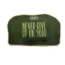Beauty porta oggetti MINIPA in eco-pelle verde con zip 19x11x8cm