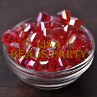 New 10pcs 10mm Cube Square Faceted Crystal Glass Loose Spacer Beads Red AB