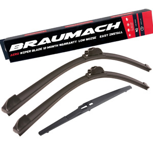 Front Rear Wiper Blades for Hyundai Accent RB Hatchback 1.6 2010-2018
