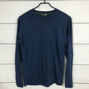 Smartwool Blue Long Sleeve Base Layer Top Size Small S Merino Wool Men's