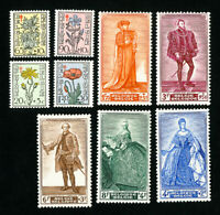 Belgium Stamps # B468-76 VF OG LH Catalog Value $71.45