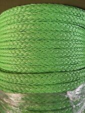 10mm x 400 ft. 16 Strand Hollow Braid Polyethylene Rope. Lime. Usa Made