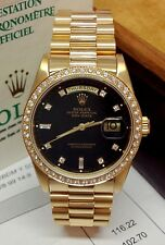 Rolex Day-Date 18348 Yellow Gold Diamond Bezel - B&P 1993 - Serviced by Rolex!