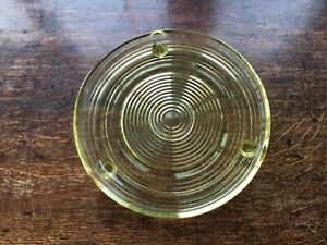 Vintage Yellow Depression Glass Cake Stand Plate