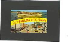 AK Panama City Florida Texaco Tankstelle Oldtimer Bus Werbung Reklame Coca Cola