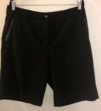 EP Pro Women Black Golf Shorts W/Faux Leather Lined Pockets Size 14