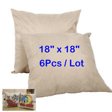 Holiday Linen Sublimation Blanks Pillow Case Linen Cushion Cover Merry Christmas