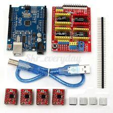 CNC Shield V3.0 + UNO R3 Board + 4Pcs A4988 Driver For Arduino 3D Printer