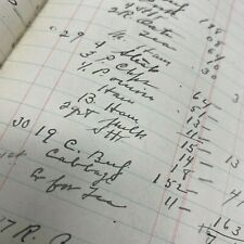 Gigantic 1000+ page grocery store ledger Lowell MA 1909-1912 with customer names