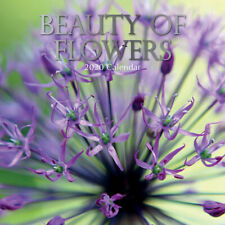 Beauty of Flowers - 2020 Premium Square Floral Wall Calendar 16 Months New Year