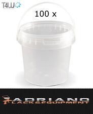 T4W 59327 Kunststoff Eimer mit Deckel 1L 100 Stück
