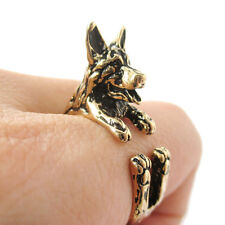 German Shepherd Ring Gold Adjustable Dog and Puppy Lovers Fashion Jewelry AR-46