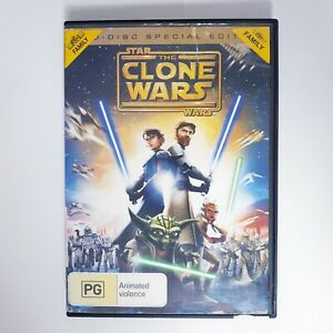 Star Wars The Clone Wars DVD Anime Movie Region 4 PAL Free Postage