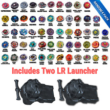 Beyblade Random 6 Pack Collection w/ Two Free Bayblade L/R Launcher