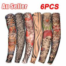 Nylon Stretch Costume Fake Tattoo Sleeve Arm Stocking Fancy Dress Pack of 6 AU