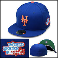 New Era 59fifty New York Mets Fitted Hat Cap 1986 World Series Side Patch MLB