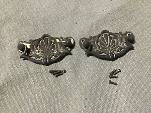Art Nouveau Brass-handles  DRAWERS Handles. X 2 old reclaimed