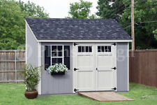 Storage Shed Plans, 6' x 12' Deluxe Lean to / Slant #D0612L, Free Material List