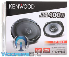 "KENWOOD KFC-6966S 6""x9"" 800W MAX 3WAY SUPER TWEETERS COAXIAL CAR STEREO SPEAKERS"