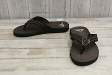 **Quiksilver Carver Flip Flops - Big Boy's Size 5, Brown NEW