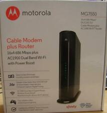 Motorola MG7550 16x4 Cable Modem - AC1900 Dual Band Wi-Fi Gigabit Router - Used