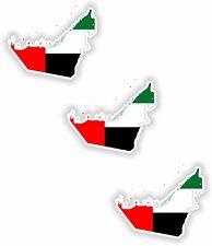 "United Arab Emirates 3x Small Map flag Sticker (1.2"")Bumper Helmet Phone Fridge"