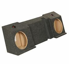 """New! Q-Power Gmcavalanche10Df Gmc Avalanche Underseat Dual 10"""" Subwoofer Sub Box"""