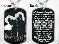A FATHER AND DAUGHTER - Dog tag Necklace/Key chain + FREE ENGRAVING