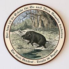 Keiler im Wald Wildschwein Jagdwild Flucht  Schützenscheibe 41cm Wunschtext 109