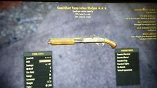 Quad pump action shotgun faster fire rate 3 star fallout 76  ps4