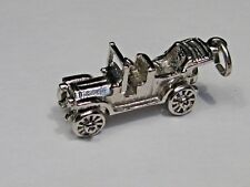 New listing Vintage Convertible Model A Car w/ Movable Wheels Charm. #4