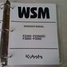 2002 KUBOTA F2260 / F2560 (E) / F3060 / F3560 TRACTOR WORKSHOP SERVICE MANUAL
