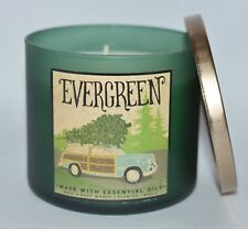 NEW BATH & BODY WORKS EVERGREEN SCENTED CANDLE 3 WICK LARGE 14.5OZ FIR PINE OILS