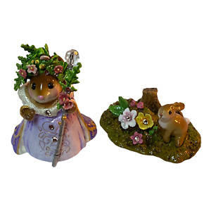 Wee Forest Folk Special Lavender Spring Queen and Her Bunny