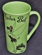 SILVER TINKER BELL ON TALL LIGHT GREEN  MUG TINKERBELL