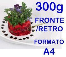 CARTA FOTOGRAFICA PREMIUM A4 300gr 300g Fronte Retro 2 Lati -Lucida - 20 fogli