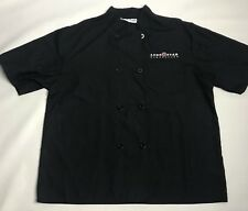 Lone Star Steakhouse Chef Jacket Coat Work Uniform Black White Size L