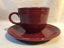 Fiesta CRANBERRY Cup And Saucer