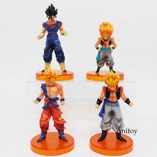 4 Pcs/Set Dragon Ball Z Son Goku Vegito Gotenks Gogeta Action Figure Model Toys
